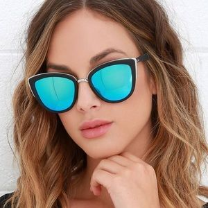 Quay Australia My Girl Mirrored Cat Eye Sunglasses